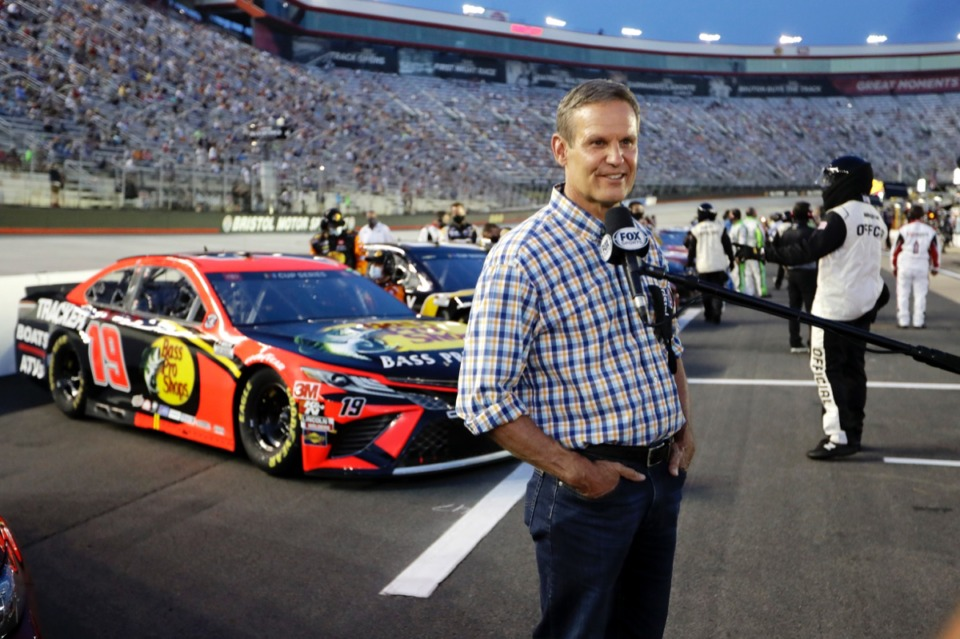 <strong>&ldquo;The intent is to be more transparent so communities know what&rsquo;s happening in schools with regard to COVID,&rdquo; said Gov. Bill Lee, seen here at the NASCAR All-Star auto race at Bristol Motor Speedway in Bristol, Tenn, Wednesday, July 15, 2020. &ldquo;I&nbsp;can&rsquo;t tell you exactly what will be reported for every school.&rdquo;</strong> (Mark Humphrey/AP)