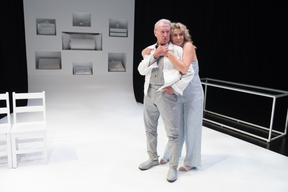 <strong>Jerry Chipman appears with Natalie Jones in &ldquo;Heisenberg&rdquo; on the Next Stage&nbsp;at Theatre Memphis, 2018.</strong> (Submitted)