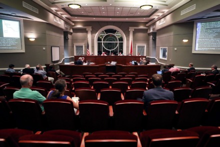 <strong>The Collierville Planning Commission on Thursday endorsed the Water Tower District, a development that will include town homes, duplexes, triplexes and flats.</strong> (Patrick Lantrip/Daily Memphian file)