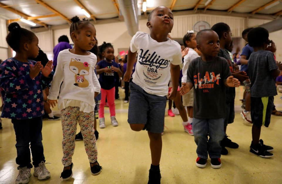 <strong>Students get ready for activity in the gym at Dunbar Elementary School last fall. Creating an environment that is safe enough to open schools is paramount, Shelby County Mayor Lee Harris says.</strong> (Patrick Lantrip/Daily Memphian file)