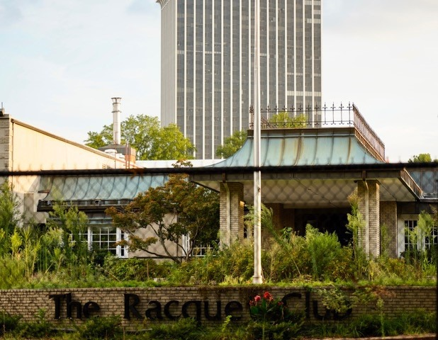 <strong>Any redevelopment of The Racquet Club can complement the density of existing office, retail and residential development in the East Memphis district. The club property is under the shadow of Clark Tower.</strong> (Tom Bailey/Daily Memphian)