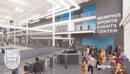 <strong>The planned 277,000-square-foot Memphis Sports and Events Center would be for public use and the use of youth sports tournaments.</strong> (LibertyParkMemphis.com)