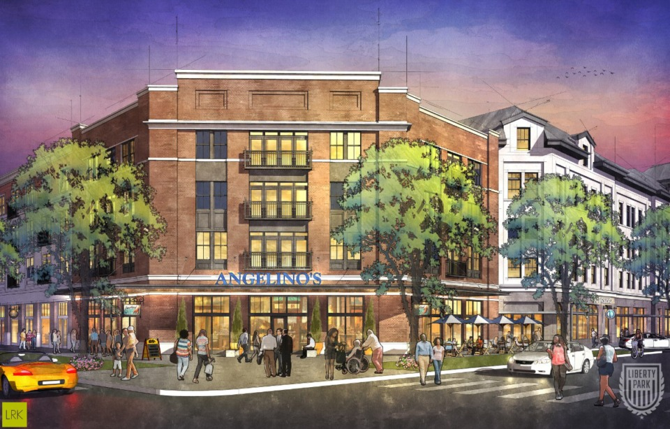 <strong>The multi-family residential, hotels and retail along Central Avenue would be about where the football and track field used for high school athletic events are currently</strong>. (LibertyParkMemphis.com)