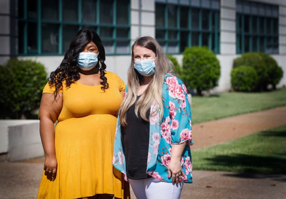 <strong>MLK Prep teachers Kenisha Clark and Mollie Abell started the school year teaching their students virtually due to the COVID-19 pandemic.</strong> (Mark Weber/Daily Memphian)