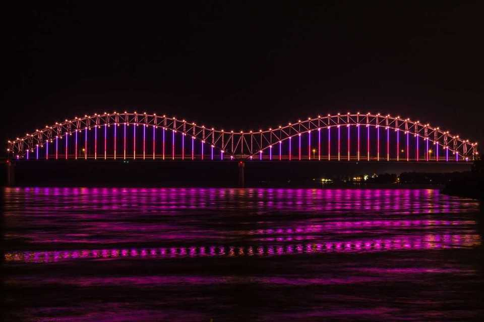 <strong>Mighty Lights will use&nbsp;the money from the dedications to support and maintain operations of the lights on both Big River Crossing and the Hernando de Soto Bridge.</strong> (Submitted)