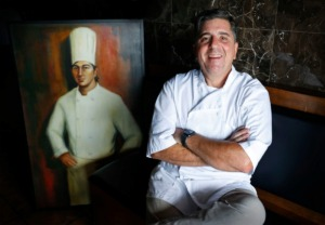 <strong>Chef Alex Grisanti sits in his soon-to-open new restaurant Elfo Grisanti&rsquo;s on Tuesday, Aug. 18, 2020 in Southaven. The Italian eatery will begin offering take-out and take and bake goods in September.</strong> (Mark Weber/Daily Memphian)