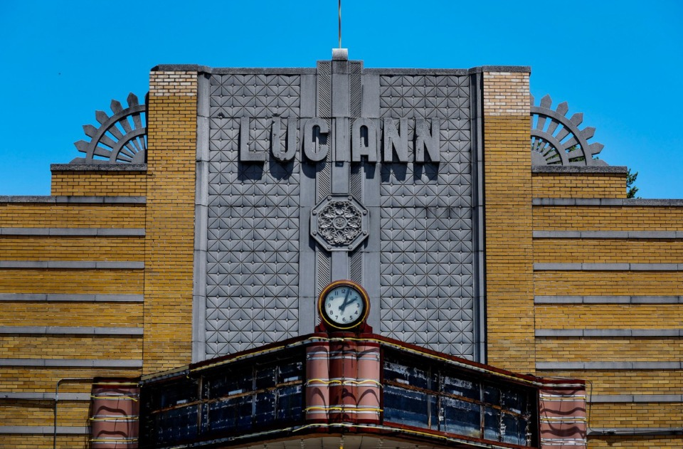 <strong>The historic Luciann Theater on Summer Ave., which opened in 1939, on Wednesday, Aug. 26, won approval for a zoning variance.</strong> (Mark Weber/Daily Memphian file)