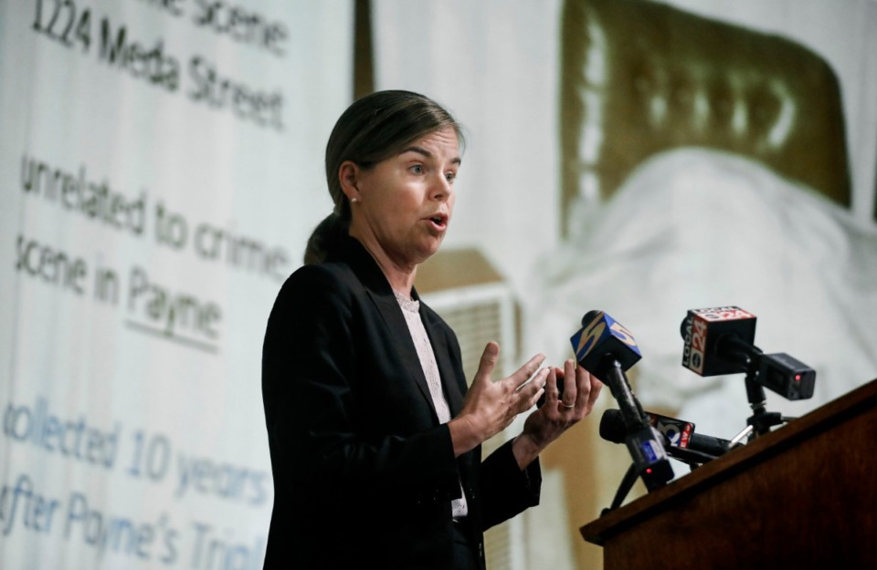 <strong>Shelby County District Attorney General Amy Weirich (shown at a press conference on July 30) has ruled that a 2018 fatal shooting by a Memphis Police officer is justified.</strong> (Mark Weber/Daily Memphian)