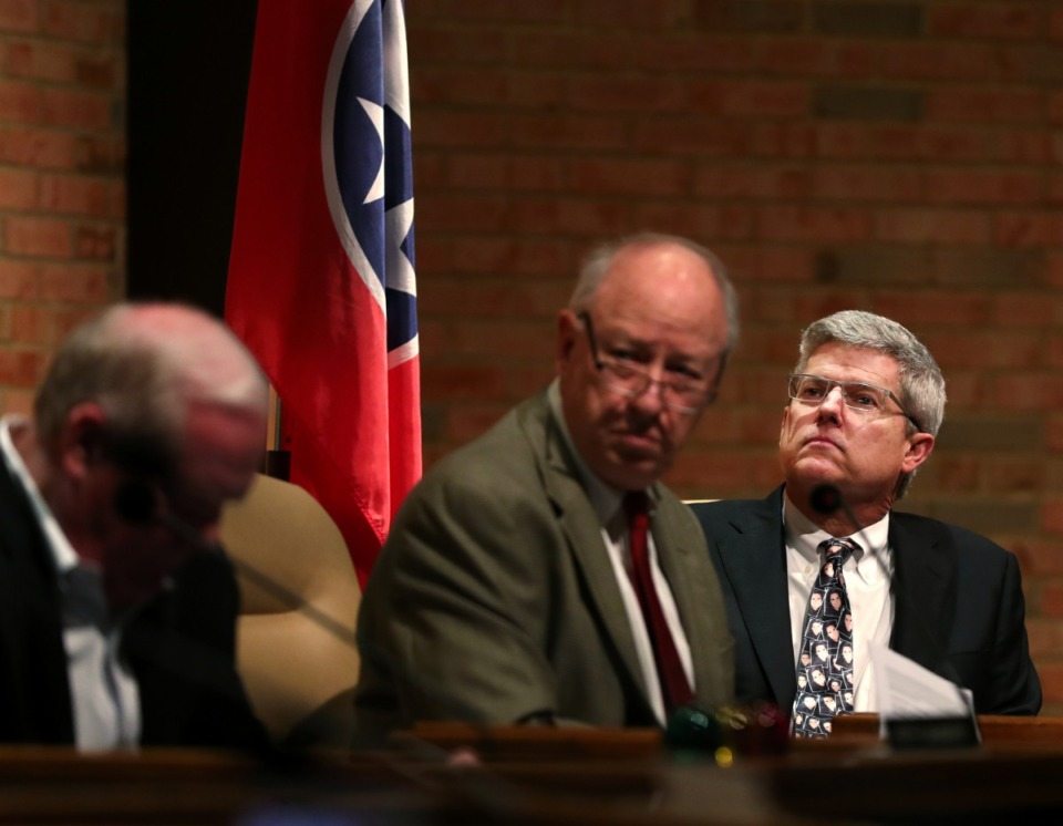 <strong>The Germantown Planning Commission includes (from left) Keith Saunders, chairman Mike Harless and Dike Bacon.</strong>&nbsp;(Daily Memphian file)
