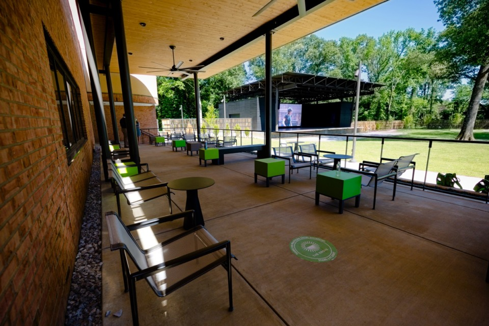 <strong>The VIP area overlooking the outdoor stage of The Grove at Germantown Performing Arts Center in Germantown on June 01, 2020</strong>. (Ziggy Mack/Special to The Daily Memphian)