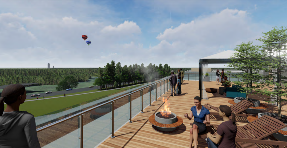 <strong>Views of Shelby Farms Park are a big feature for Parkside at Shelby Farms.</strong> (Credit: Chasm Architecture)