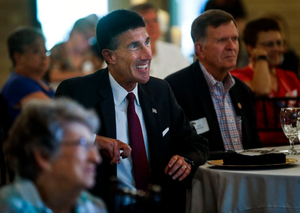 <strong>Congressman David Kustoff, seen here Aug. 20 at the Bartlett Chamber Luncheon, warns we may not know the&nbsp; November election results immediately.</strong> (Daily Memphian file)