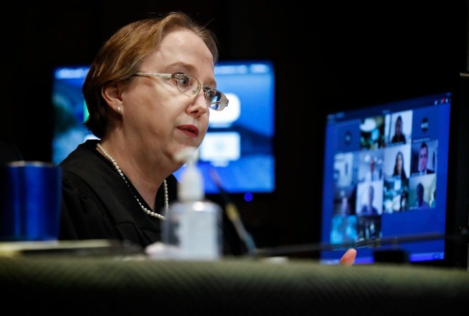 <strong>Judge Paula Skahan presides over the Sept. 1 hearing on Pervis Payne&rsquo;s motion for DNA testing of recently found evidence.</strong> (Mark Weber/Daily Memphian)