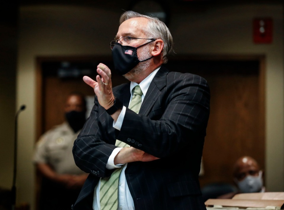 <strong>Assistant District Attorney Steve Jones speaks during the Sept. 1 hearing on Pervis Payne&rsquo;s motion for DNA testing.</strong> (Mark Weber/Daily Memphian)