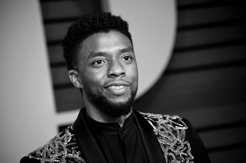 <strong>Chadwick Boseman at the Vanity Fair Oscar Party on Sunday, March 4, 2018, in Beverly Hills, California.</strong> (Photo by Evan Agostini/Invision/AP)