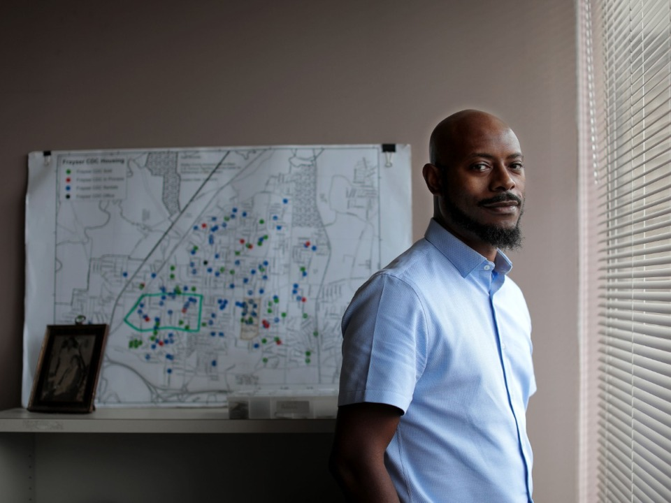 <strong>&ldquo;If I could imagine my dream job, this would be it,&rdquo; said Frayser CDC Director Damon Williams (in his office Sept. 4, 2020).</strong> (Patrick Lantrip/Daily Memphian)