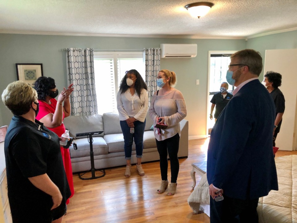 <strong>Guests tour the CHF Family House on Garland Street Saturday, Sept. 5, 2020. The home will provide housing&nbsp; for families with children who are patients at St. Jude Children&rsquo;s Research Hospital and Le Bonheur Children&rsquo;s Hospital.</strong> (Submitted)
