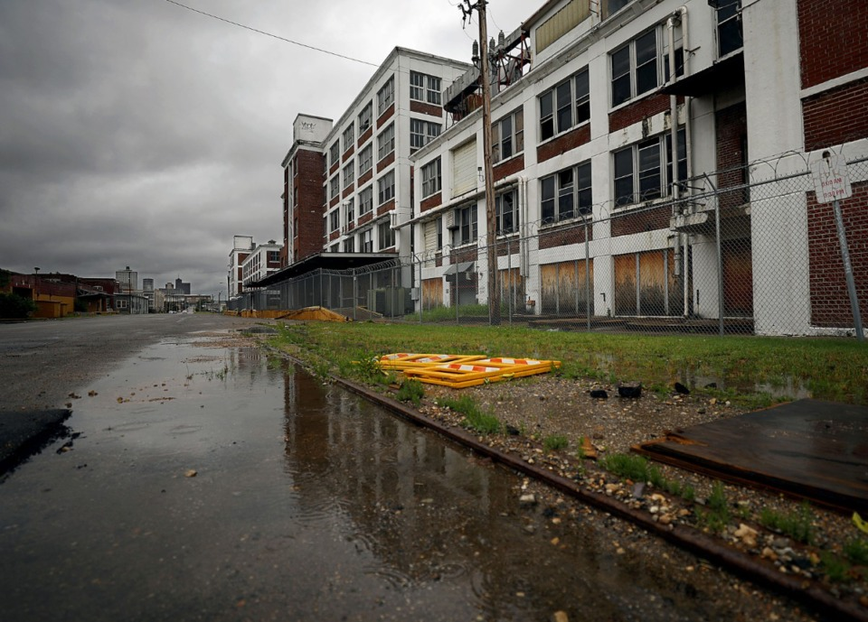 <strong>The Snuff District, a proposed $190 million-$200 million mixed-use development along Wolf River Harbor&rsquo;s east bank looks to reimagine the historic American Snuff Factory building in Uptown as its centerpiece.</strong> (Patrick Lantrip/Daily Memphian)