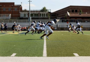 <strong>In this file photo, Lausanne&rsquo;s varsity football team practices Aug. 16, 2019, in preparation for the upcoming season. Now, practice for the 2020 season has been interrupted by one player&rsquo;s coronavirus case.</strong> (Patrick Lantrip/Daily Memphian file)
