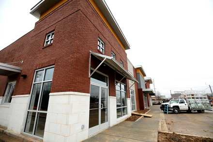 <strong>The Houston Levee Market in Collierville is finishing up construction over the next few weeks.</strong> (Houston Cofield/Daily Memphian)