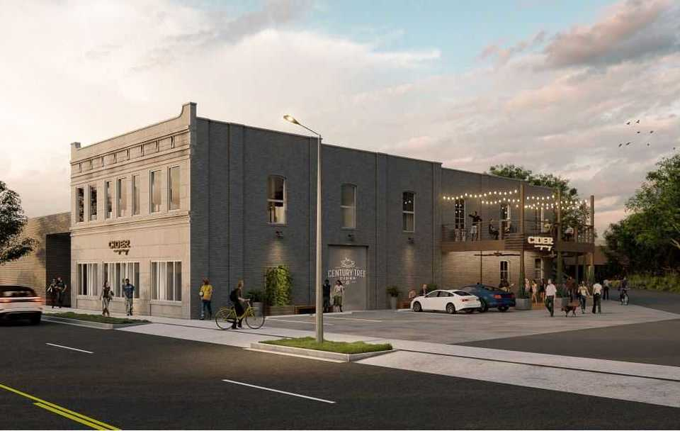<strong>Artist's rendering of proposed Century Tree Cider Co. cidery on Union Avenue.&nbsp;</strong>(A2H)