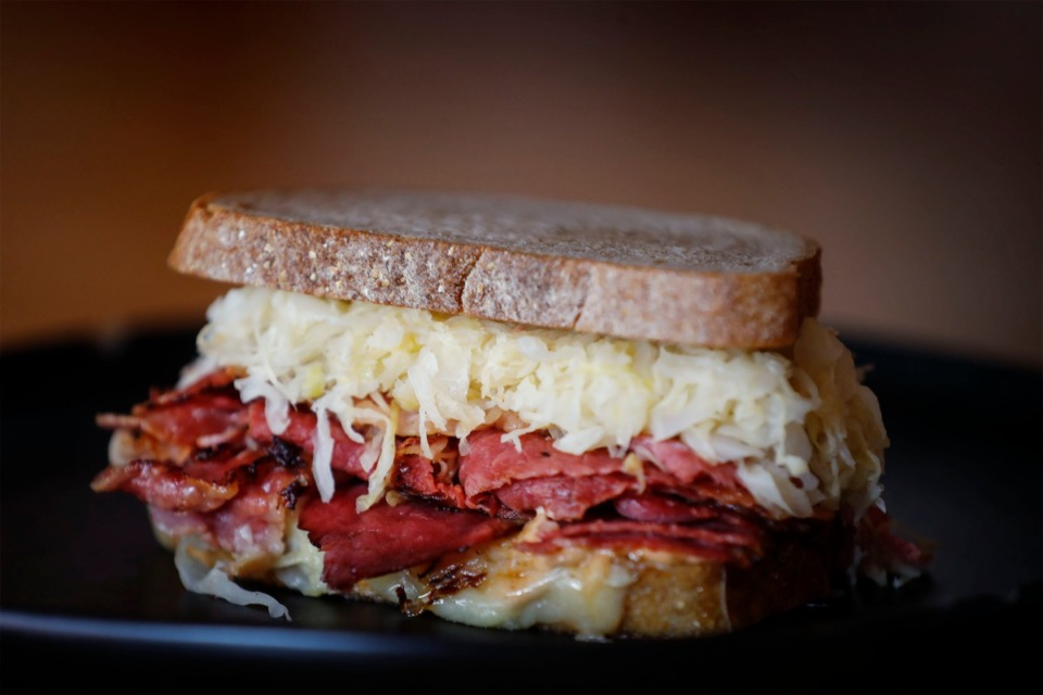 <strong>Hazel's Lucky Dice Delicatessen&rsquo;s Reuben sandwich features corned beef, Russian dressing, gruyere, sauerkraut and toasted rye.</strong> (Mark Weber/The Daily Memphian)