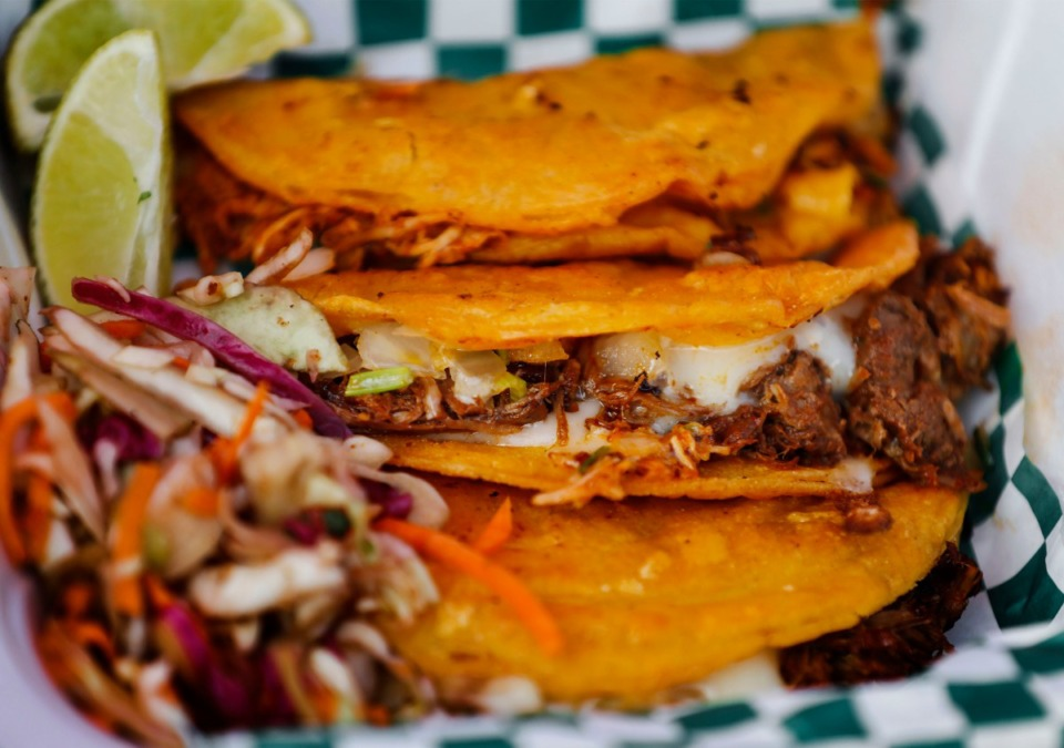 <strong>TacoNGanas&rsquo; carnitas tacos on Tuesday, Sept.8, 2020.</strong> (Mark Weber/The Daily Memphian)