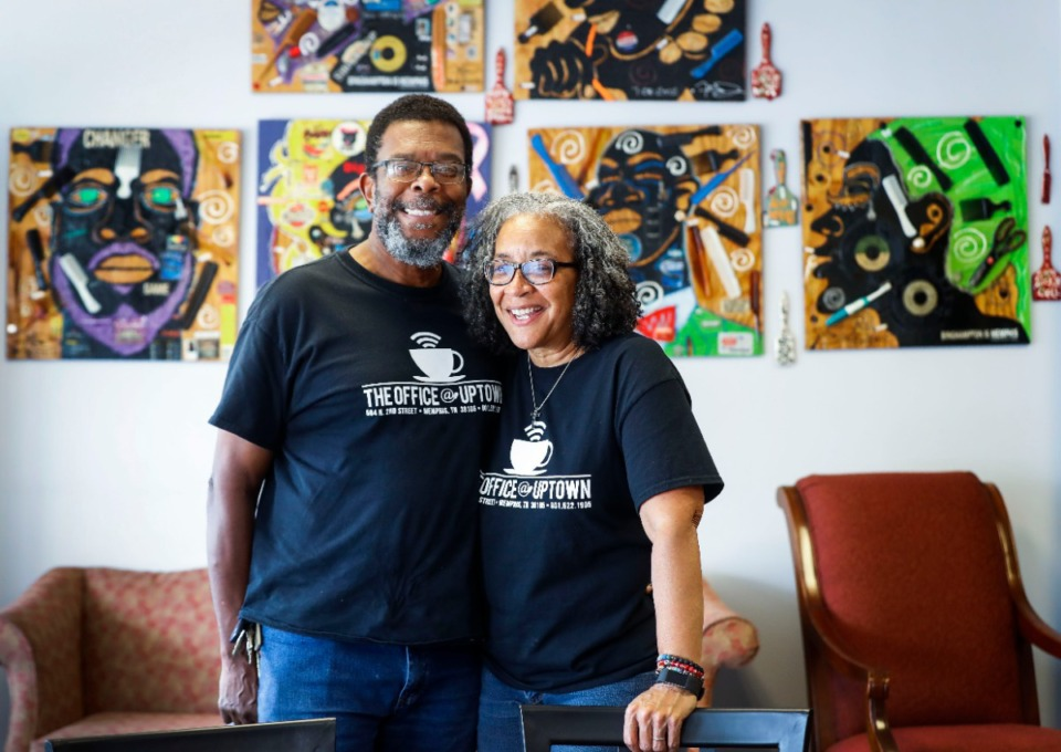 <strong>Valerie Peavy and husband Jeff Harrison owners of The Office@Uptown will soon close the popular restaurant as they plan to retire.</strong> (Mark Weber/The Daily Memphian)