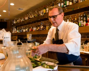 <strong>Former Second Line Bartender David Parks prepped ingredients for his cocktail delivery service in March.</strong> (Ziggy Mack/Daily Memphian file photo)