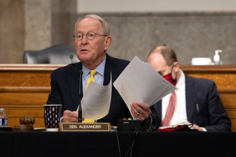 <strong>Otis Sanford says no one should be surprised that Tennessee Sen. Lamar Alexander, above, has made a 180-degree turn from what he said in 2016 about Supreme Court nominations.</strong> (Graeme Jennings/Pool via AP)