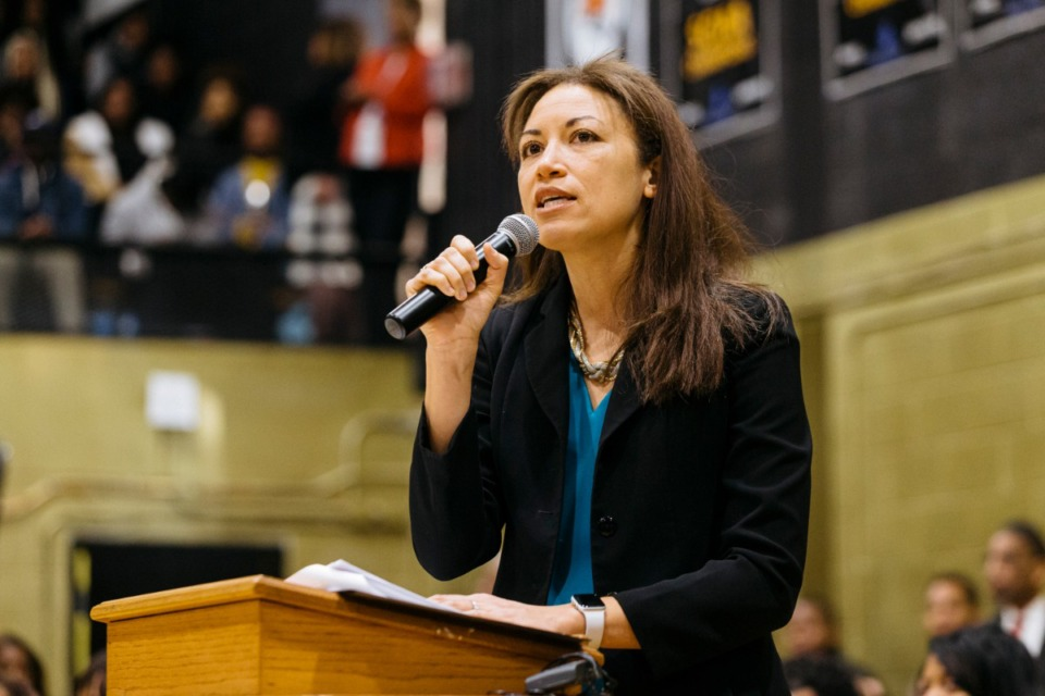 <strong>Tennessee Education Commissioner Penny Schwinn, seen here in January,&nbsp; pointed out Wednesday that&nbsp;30% of Tennessee third graders typically read below grade level, but the pandemic closings could drop that number to 14%. </strong>(Ziggy Mack/Daily Memphian file)