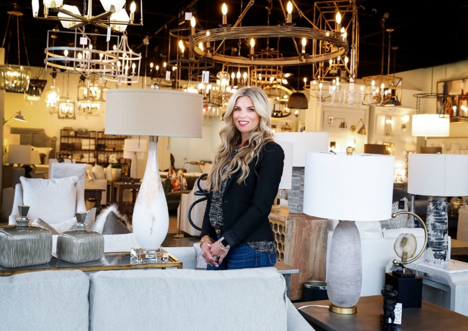 <strong>&ldquo;Posh Lighting is so much more than lighting; it&rsquo;s really posh interiors,&rdquo; said general manager Sarah Roberson, in the newly open Arlington showroom on Wednesday, Sept. 23, 2020.</strong> (Mark Weber/The Daily Memphian)