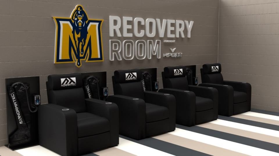 <strong>Grizzlies star&nbsp;Ja Morant and&nbsp;recovery and performance technology brand Hyperice partnered to design the&nbsp;&ldquo;Murray State Recovery Zone.&rdquo;&nbsp;</strong>(Rendering courtesy of&nbsp;Murray State and Hyperice)