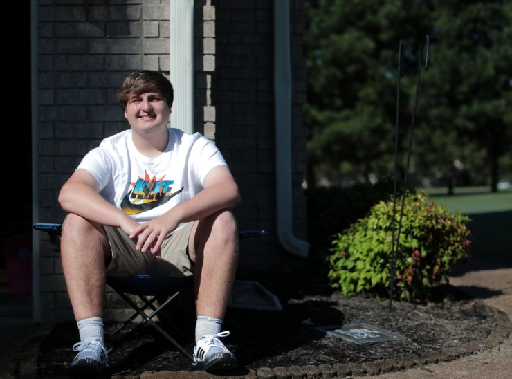 <strong>Daniel Franceschini sits outside of his Fayette County home Sept. 29, 2020. Franceschini is a freshman at the University of Memphis who was forced to take online courses because of the coronavirus pandemic.</strong> (Patrick Lantrip/Daily Memphian)