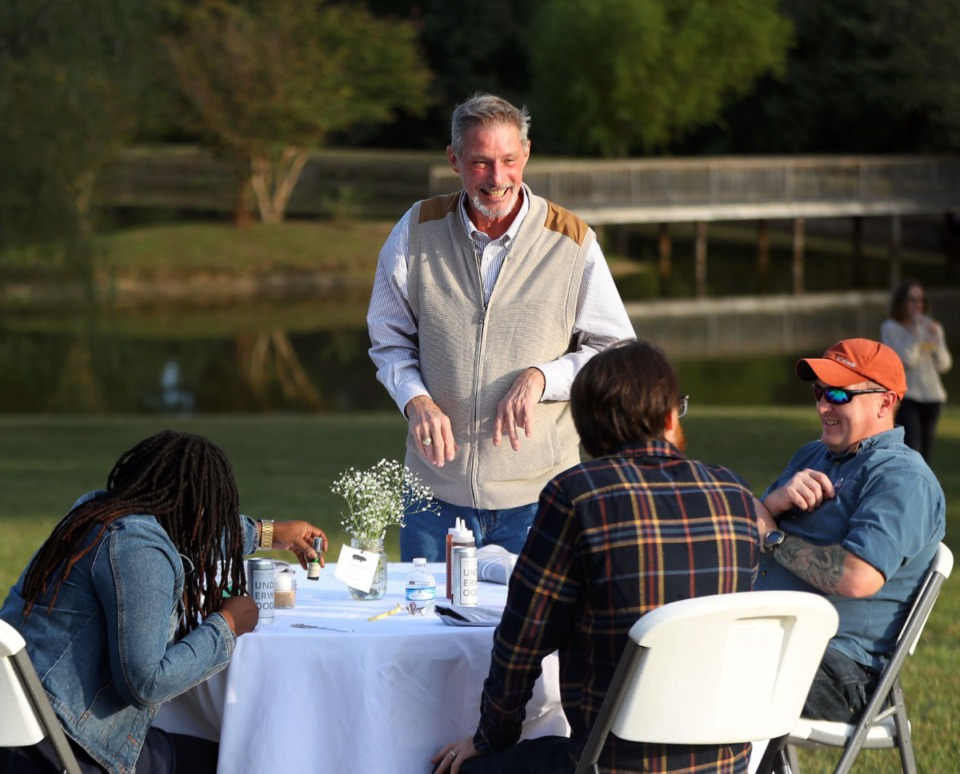 <strong>Billy Ridgway entertains guests at Alamo Farms, his Williston, Tennessee property.</strong> (Patrick Lantrip/Daily Memphian)