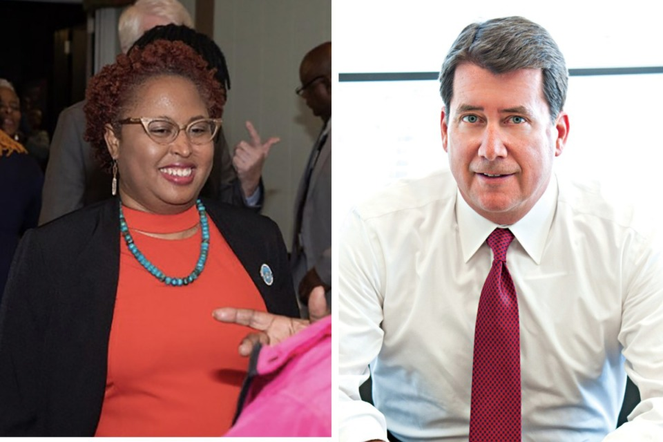 <strong>Marquita Bradshaw, left, and Bill Hagerty are running for the U.S. Senate in Tennessee.</strong> (Daily Memphian file)