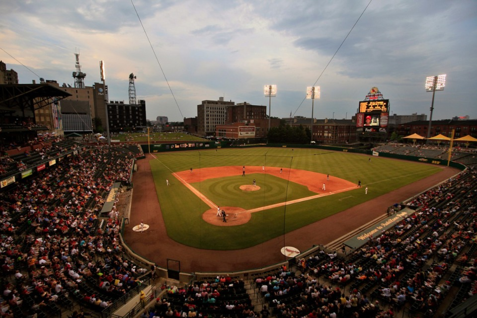 <strong>The Memphis Redbirds take the field against the Albuquerque Isotopes at AutoZone Park</strong>. (Daily Memphian file)