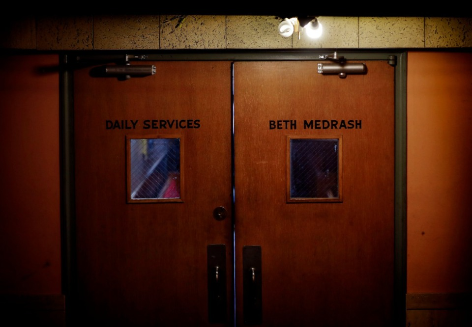 <strong>Doors lead to a secondary area inside the former Baron Hirsch Synagogue.</strong> (Mark Weber/Daily Memphian)