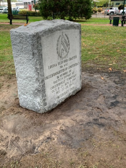 <strong>The Confederate monument on the historic Collierville town square has become a tinderbox of disputes in recent months, and candidates for alderman have mixed reactions regarding the controversial issue. </strong>(Abigail Warren/Daily Memphian)