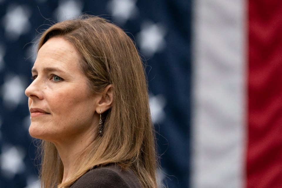 <strong>Members of the group Alumni for Amy say Supreme Court nominee Amy Coney Barrett is a well-respected member of the Rhodes College class of 1994, who graduated with an impressive record of academic achievements and leadership.</strong> (Alex Brandon/Associated Press)