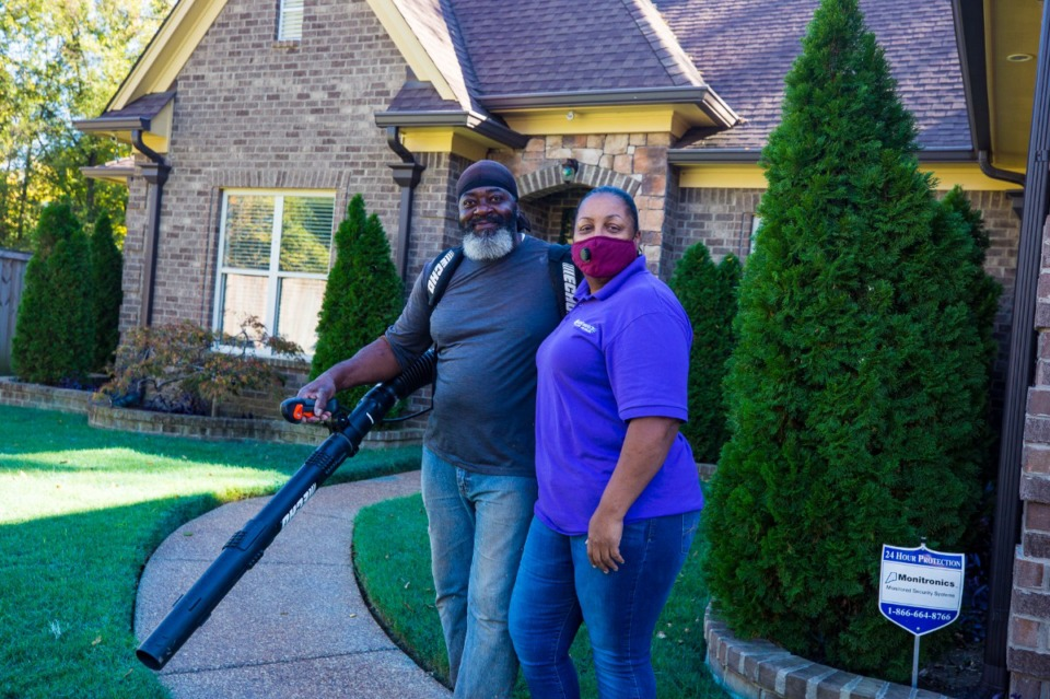 <strong>&ldquo;We just wanted to come back and just make a difference in our neighborhood,&rdquo; said Paula Campbell (right), with her husband James Campbell in front of their home in Orange Mound on Wednesday, Oct. 14, 2020</strong> (Ziggy Mack/Special to Daily Memphian)