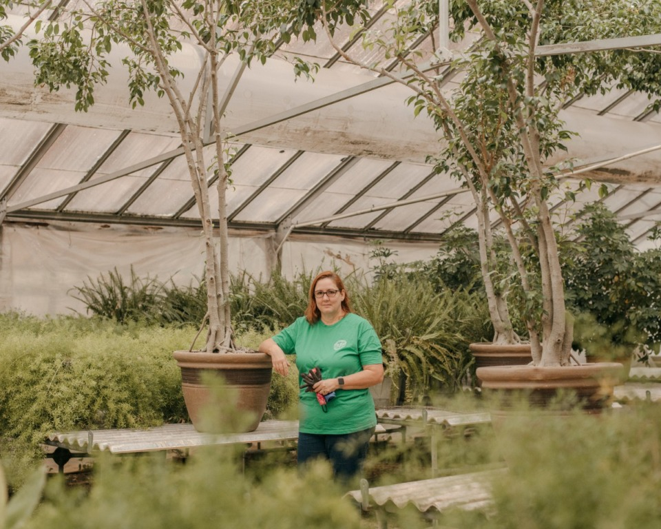 <strong>Mary Cody Page, a Master Gardener for the Memphis Area Master Gardeners, stands in one of the city&rsquo;s greenhouses.</strong>(Houston Cofield/Special To The Daily Memphian)