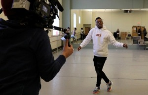 "<strong>Charles &ldquo;Lil Buck&rdquo; Riley rehearses for the ""Nut Remix"" at New Ballet Ensemble &amp; School, while two French documentarians filmed him in 2018 for an upcoming television series</strong>. (Patrick Lantrip/Daily Memphian file)"