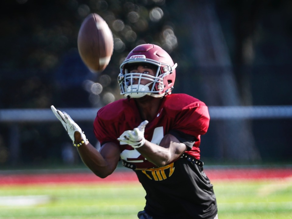 <strong>ECS running back Jaylen Greenwood ranks second in the Shelby-Metro area in both total rushing yards and yards per game</strong>. (Mark Weber/The Daily Memphian)