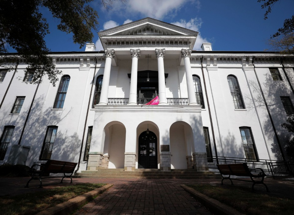 <strong>Built in 1872, the Lafayette County Courthouse seen on Oct. 20, 2020, is the center of the town square in Oxford, Mississippi.</strong> (Patrick Lantrip/Daily Memphian)