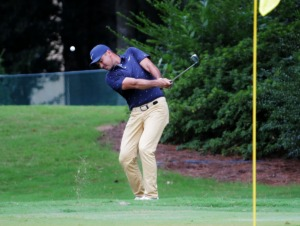 <strong>TruGreen will host events at PGA Tour events, such as the World Golf Championships-FedEx St. Jude Invitational at TPC Southwind, where Jason Day (in a July 30, 2020 file photo) chipped onto the 10th green.</strong> (Patrick Lantrip/Daily Memphian)