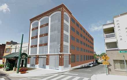 "<p class=""p1""><strong>ARRIVE Memphis actually involves two former warehouse buildings: the former MCA graduate school and a 1947-era building at 484 S. Front. That building will house retail/restaurant space and parking spaces. </strong>(Artist rendering courtesy of ARRIVE)"
