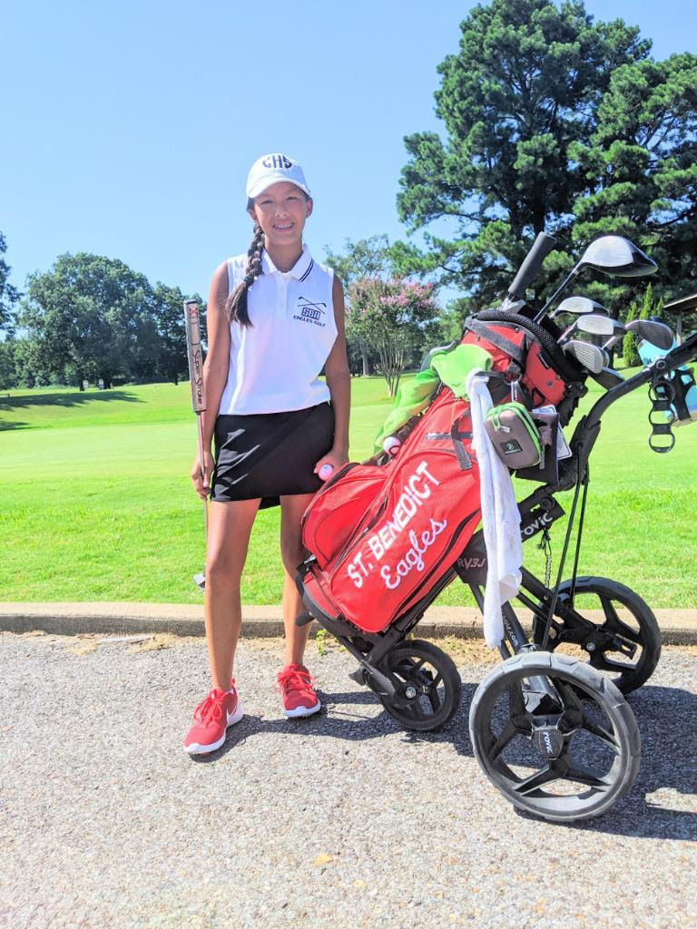 <strong>St. Benedict freshman&nbsp;Claire Hollingsworth&rsquo;s words and story were recently featured in an LPGA commercial.</strong>(Credit:&nbsp;Gretchen Hollingsworth)