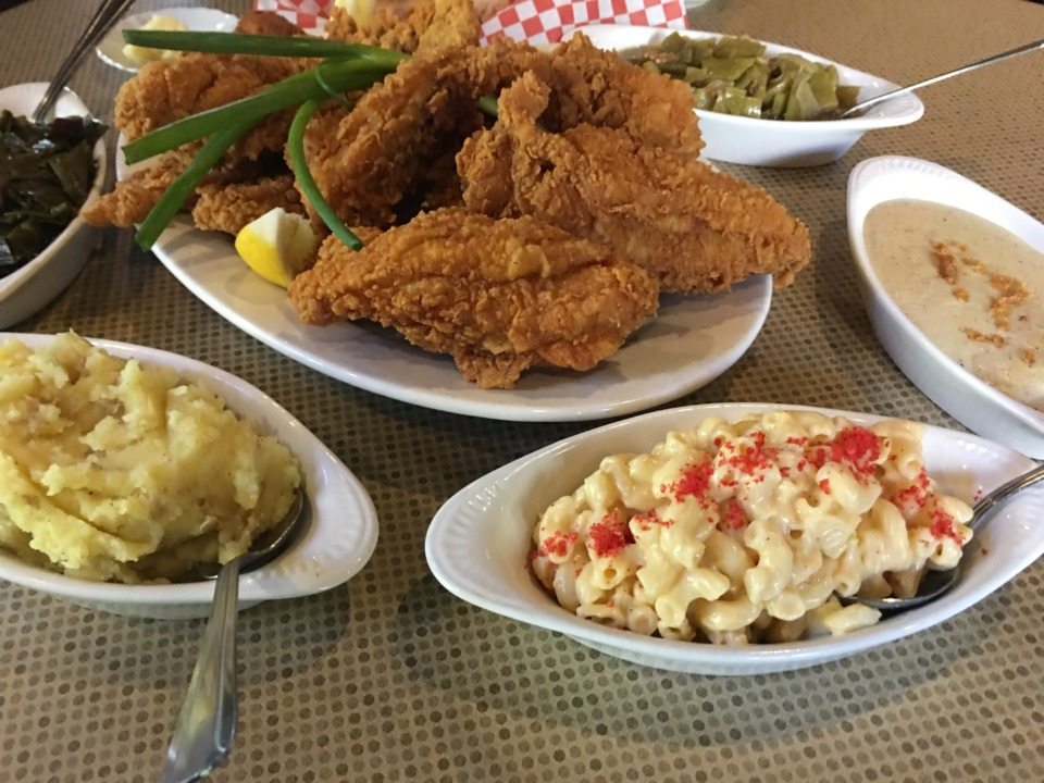 <strong>Fried chicken, catfish or chicken fried steak with sides is $14 and all you can eat at Joes' on Highland at Sunday dinner.</strong> (Jennifer Biggs: Daily Memphian)