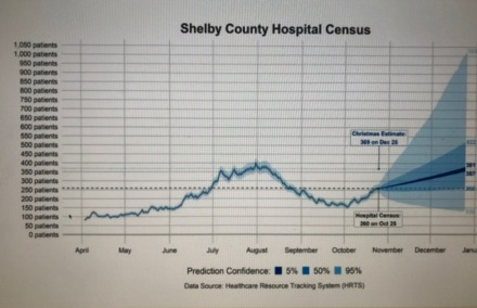 <strong>Hospital census predictions.&nbsp;</strong>(Source: Tennessee Healthcare Resource Tracking System)